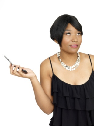 black-woman-with-cell-phone-annoyed